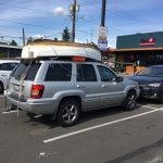 Martha the Minto on the Jeep - Seattle Duck Dodge Sailboat Race in a Minto on July 16, 2019