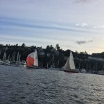 Kemp's Red Thunderbird - Seattle Duck Dodge Sailboat Race in a Minto on July 16, 2019