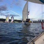 Ugly Sailboat I passed - Seattle Duck Dodge Sailboat Race in a Minto on July 16, 2019
