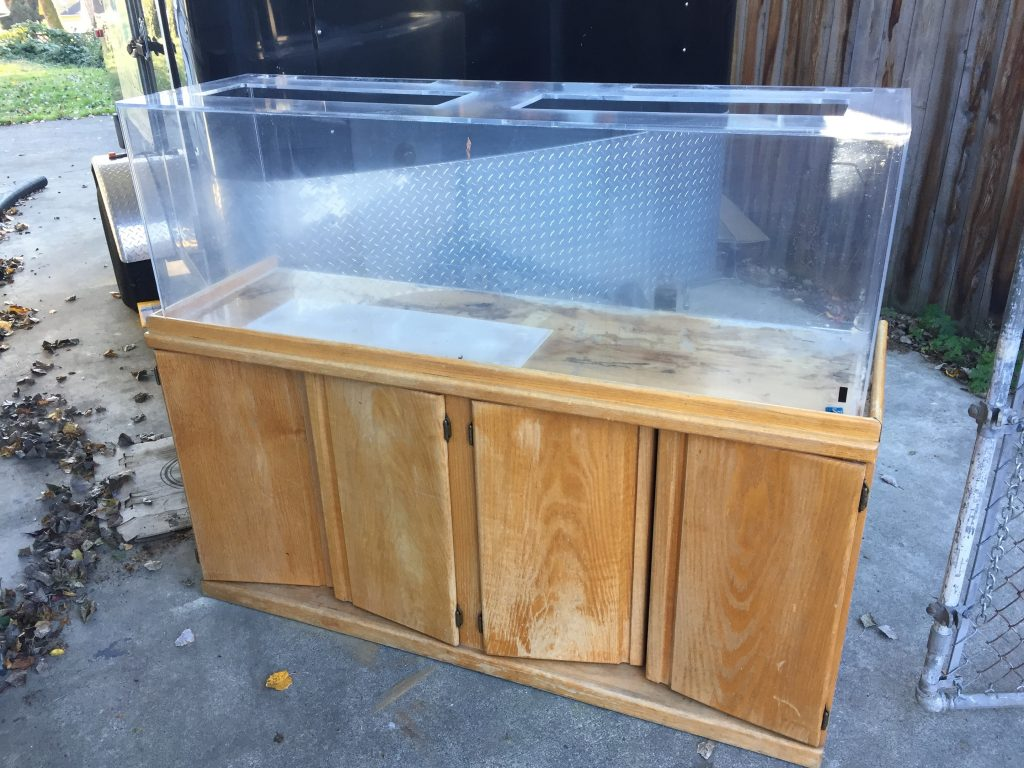 free 90 gallon tank and stand